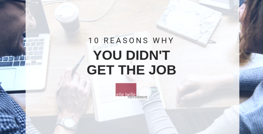 10 reasons why you didn't get the job